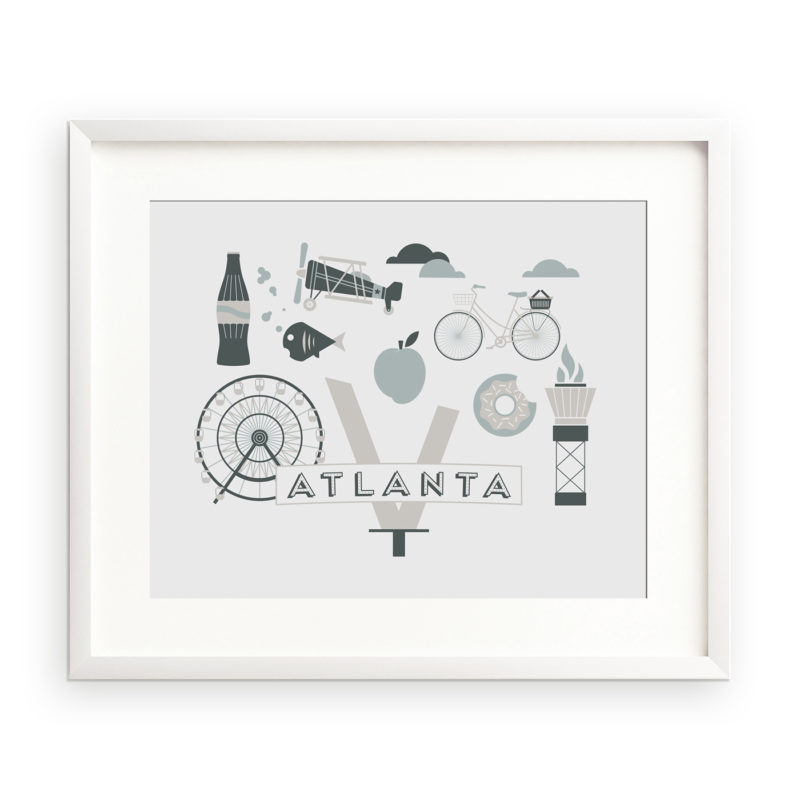 Atlanta 10x8 unframed city art print