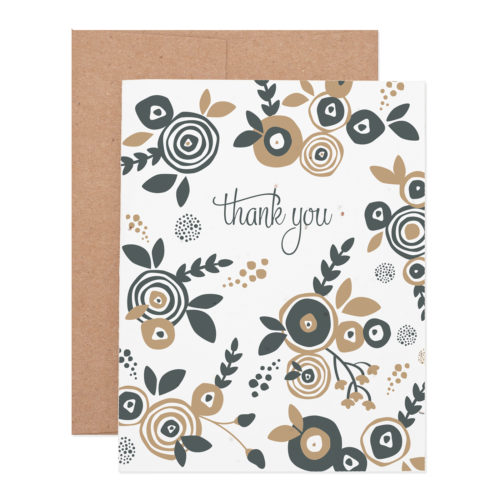 flower thank you wildflower seeded plantable letterpress greeting card