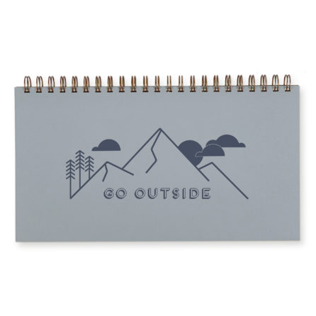Go outside weekly planner with sky blue cover