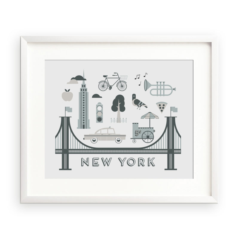 New York 10x8 unframed city art print