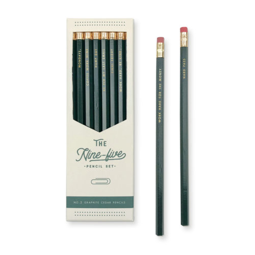 Nine to five no.2 wood writing pencil set