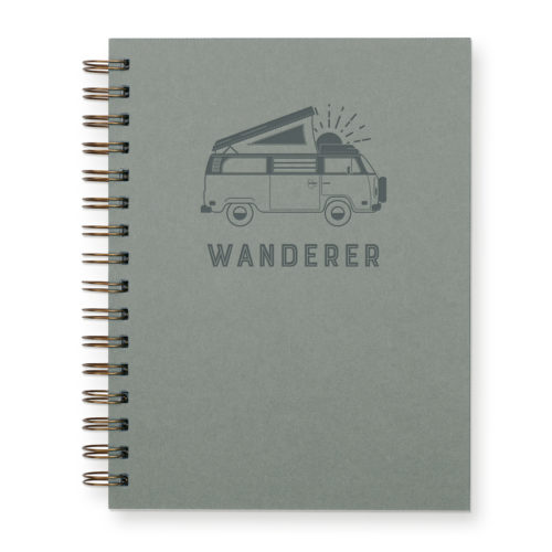 Wanderer journal with sage green cover