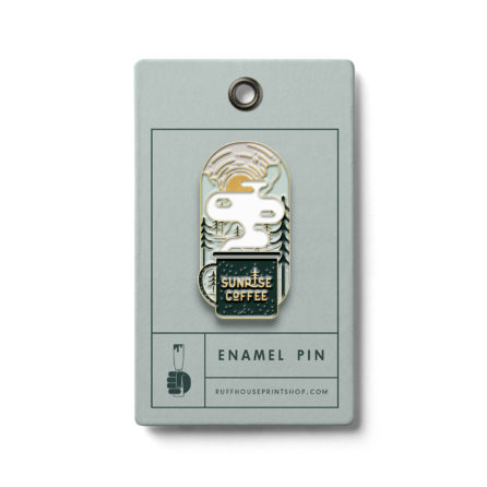 Sunrise Coffee Soft Enamel Pin
